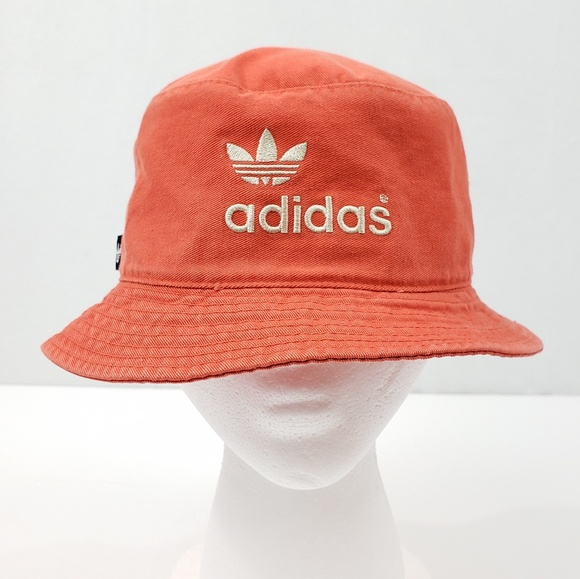 0c63f3569939e adidas Other - Vintage 90s Adidas Trefoil Orange Bucket Hat